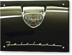 1958 Ford Fairlane 500 Victoria Hood Ornament Acrylic Print by Jill Reger