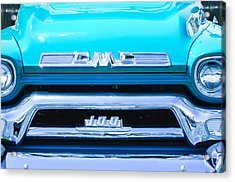 1958 Gmc Series 101-s Pickup Truck Grille Emblem Acrylic Print by Jill Reger
