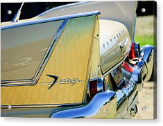 1958 Plymouth Fury Golden Commando Taillight Emblem -3447c Acrylic Print by Jill Reger