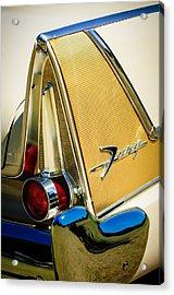 1958 Plymouth Fury Golden Commando Taillight Emblem -3467c Acrylic Print by Jill Reger