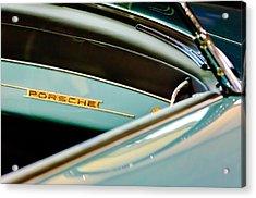 1958 Porsche 356 A Speedster Dash Emblem Acrylic Print by Jill Reger