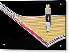1959 Desoto Adventurer Emblem Acrylic Print by Jill Reger