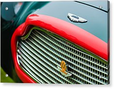 1960 Aston Martin Db4 Gt Coupe' Grille Emblem Acrylic Print by Jill Reger