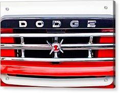 1960 Dodge Truck Grille Emblem Acrylic Print by Jill Reger