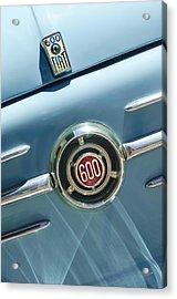 1960 Fiat 600 Jolly Emblem Acrylic Print by Jill Reger