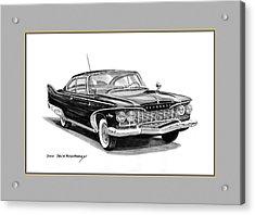 1960 Plymouth Fury Acrylic Print by Jack Pumphrey