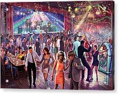 1960's Dance Scene Acrylic Print by Steve Crisp