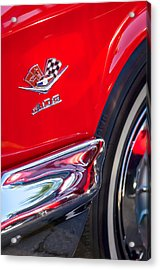 1962 Chevrolet Impala Ss 409 Emblem Acrylic Print by Jill Reger