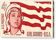 1962 Girl Scouts Of America Postage Stamp Acrylic Print by David Patterson