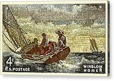 1962 Winslow Homer Postage Stamp Acrylic Print by David Patterson