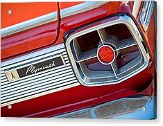 1963 Plymouth Fury Taillight Emblem -3321c Acrylic Print by Jill Reger