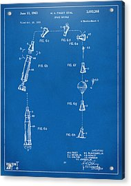 1963 Space Capsule Patent Blueprint Acrylic Print by Nikki Marie Smith