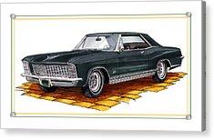 1965 Buick Riviera Custom Acrylic Print by Jack Pumphrey