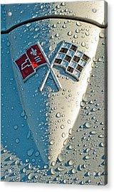 1966 Chevrolet Corvette Sting Ray Hood Emblem Acrylic Print by Jill Reger