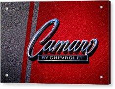 1966 Chevy Camaro Acrylic Print by David Patterson