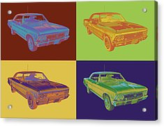 1966 Chevy Chevelle Ss 396 Car Pop Art Acrylic Print by Keith Webber Jr