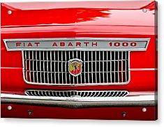 1967 Fiat Abarth 1000 Otr Grille Acrylic Print by Jill Reger