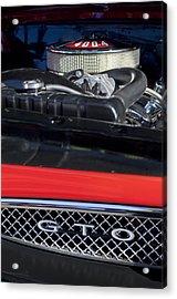 1967 Pontiac Gto Engine Emblem Acrylic Print by Jill Reger
