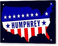 1968 Vote Humphrey For President Acrylic Print by Historic Image