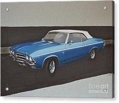 1969 Chevelle Acrylic Print by Paul Kuras