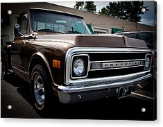 1969 Chevy Pickup Acrylic Print by David Patterson