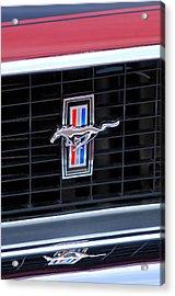 1969 Mustang Mach 1 Grille Emblem Acrylic Print by Jill Reger
