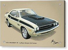 1970 Challenger T-a Dodge Muscle Car Classic Acrylic Print by John Samsen