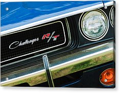 1970 Dodge Challenger Rt Convertible Grille Emblem Acrylic Print by Jill Reger