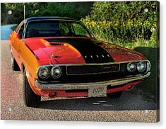 1970 Dodge Challenger Rt Acrylic Print by Thomas Schoeller
