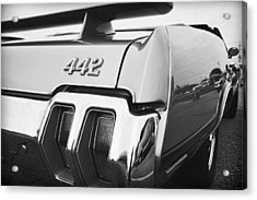 1970 Olds 442 Black And White Acrylic Print by Gordon Dean II