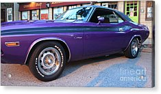 1971 Challenger Side View Acrylic Print by John Telfer