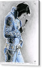 1972 Light Blue Wheat Suit Acrylic Print by Rob De Vries