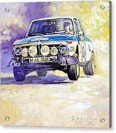 1973 Rallye Of Portugal Bmw 2002 Warmbold Davenport Acrylic Print by Yuriy Shevchuk
