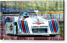 1982 Lancia Lc1 Martini Acrylic Print by Yuriy  Shevchuk
