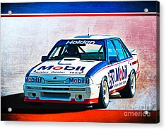 1987 Vl Commodore Group A Acrylic Print by Stuart Row