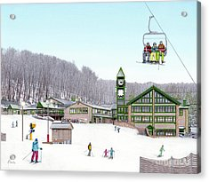 1st Snow At Hidden Valley Acrylic Print by Albert Puskaric