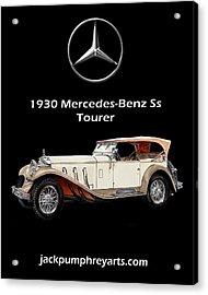 1930 Mercedes Benz Ss Tourer Acrylic Print by Jack Pumphrey