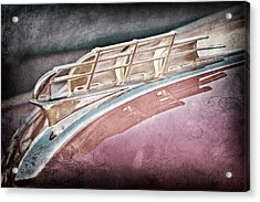 1949 Plymouth Hood Ornament Acrylic Print by Jill Reger