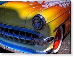 1954 Chevy Bel Air Custom Hot Rod Acrylic Print by David Patterson