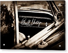 1965 Shelby Prototype Ford Mustang Carroll Shelby Signature Acrylic Print by Jill Reger