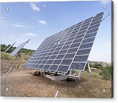 A Solar Power Station On Lesvos Acrylic Print by Ashley Cooper