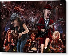 Ac/dc Acrylic Print by Andre Koekemoer