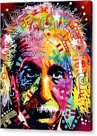 Albert Einstein 2 Acrylic Print by Dean Russo