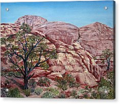 Among The Red Rocks Acrylic Print by Roseann Gilmore