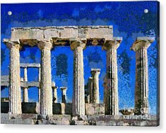 Aphaia Athina Temple Acrylic Print by George Atsametakis