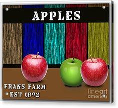 Apples Acrylic Print by Marvin Blaine