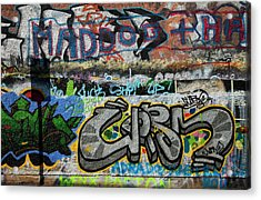 Artistic Graffiti On The U2 Wall Acrylic Print by Panoramic Images