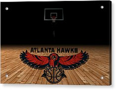 Atlanta Hawks Acrylic Print by Joe Hamilton