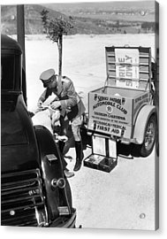 Auto Service Patrol Gives Aid Acrylic Print by Underwood Archives