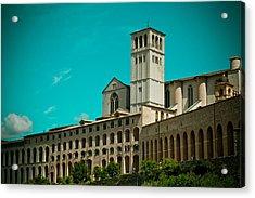 Basilica Of San Francesco Assisi  Acrylic Print by Raimond Klavins